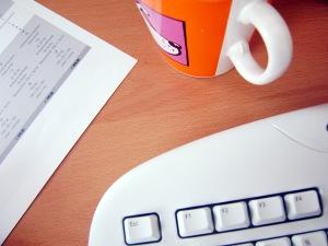 desk shot